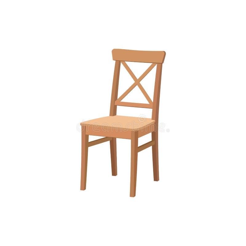 老木椅子 餐厅的家具 库存例证