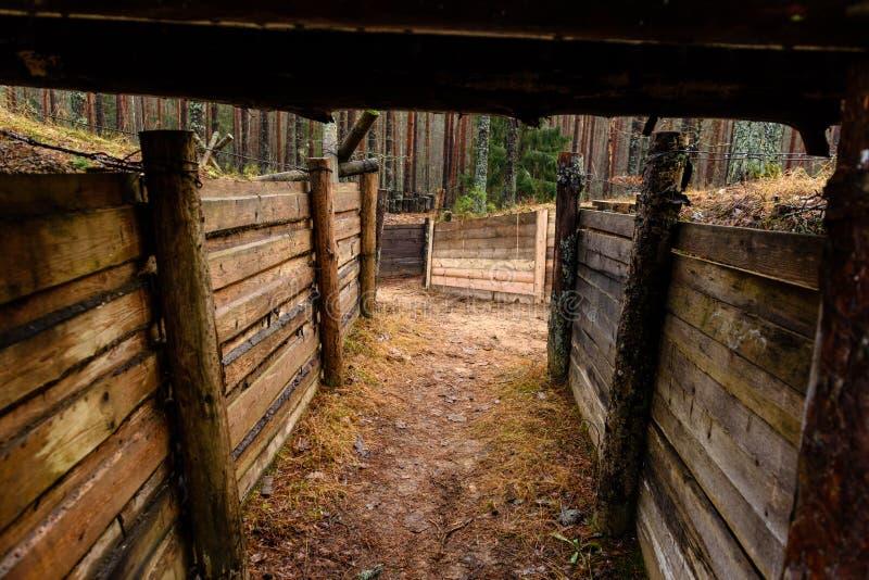 老木沟槽在拉脱维亚 图库摄影