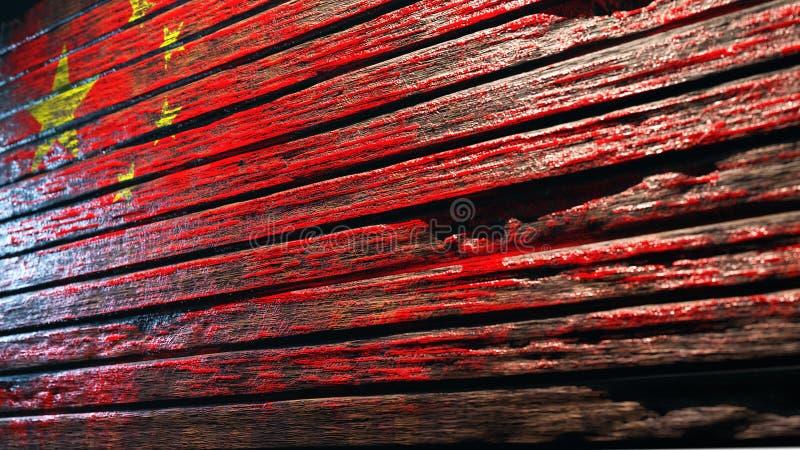 老木纹理背景 库存例证