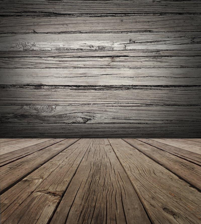 老木舞台背景 免版税库存图片