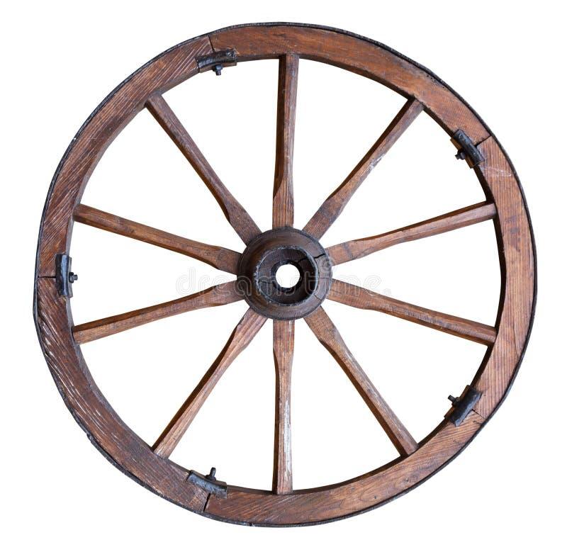 老木轮子 免版税图库摄影