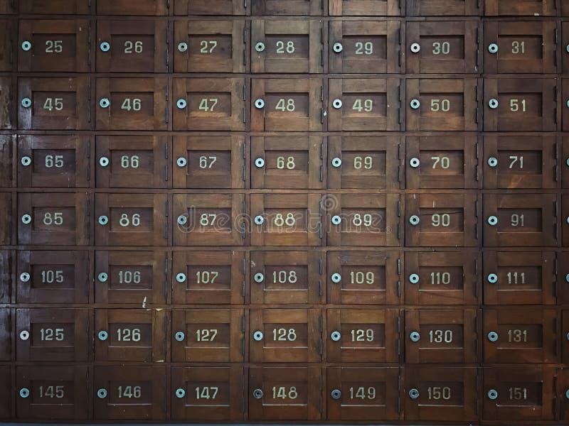老木邮政专用信箱 库存照片