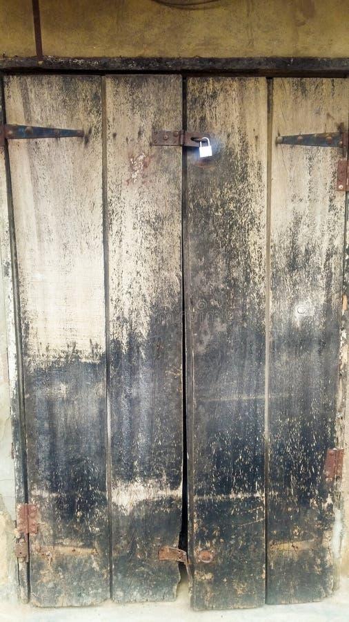 老木门样式纹理 库存照片