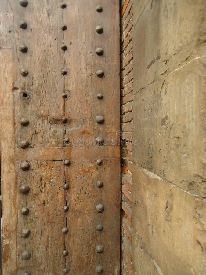 老木门细节在佛罗伦萨 库存照片