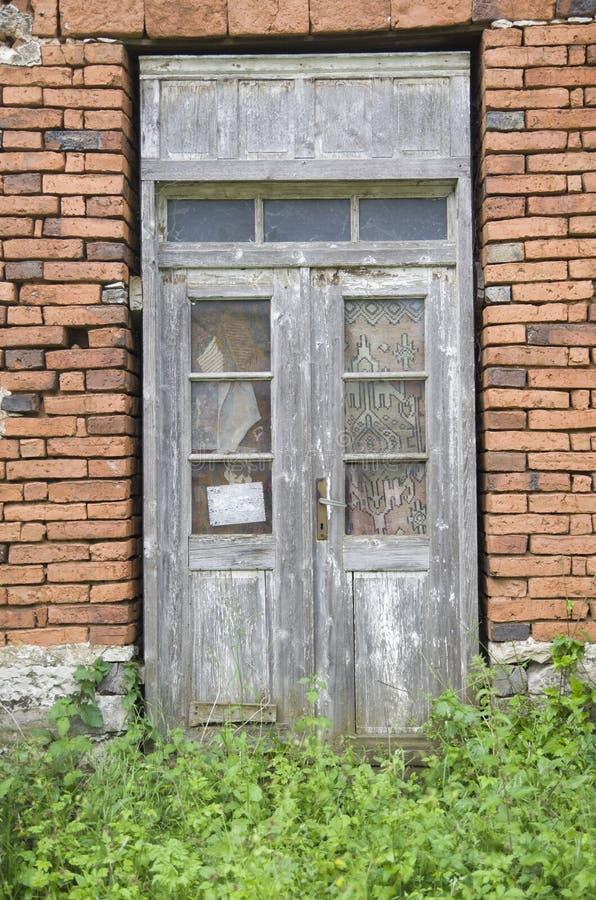 老木门,保加利亚 图库摄影