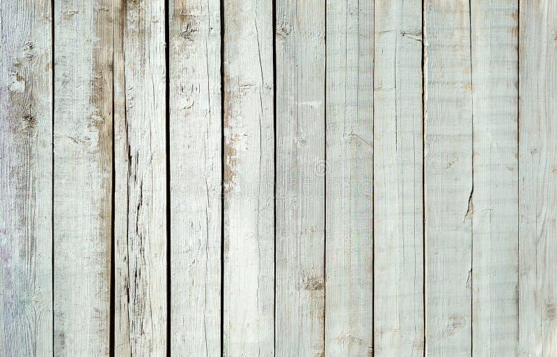 老木头背景的被绘的板条 免版税库存图片