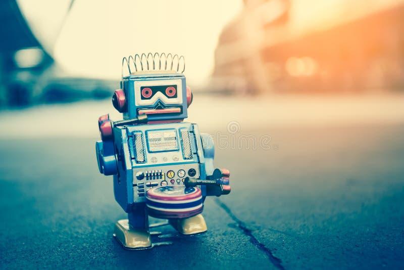 老机器人玩具 免版税库存图片