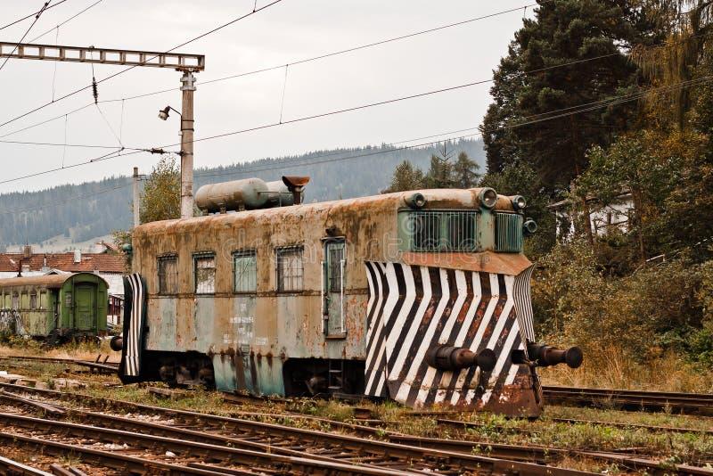 老机车在罗马尼亚 库存图片