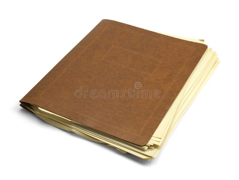 老杂乱文件 免版税库存图片