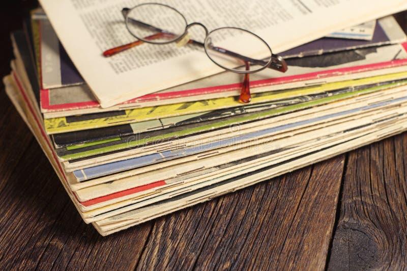 老杂志 免版税库存照片
