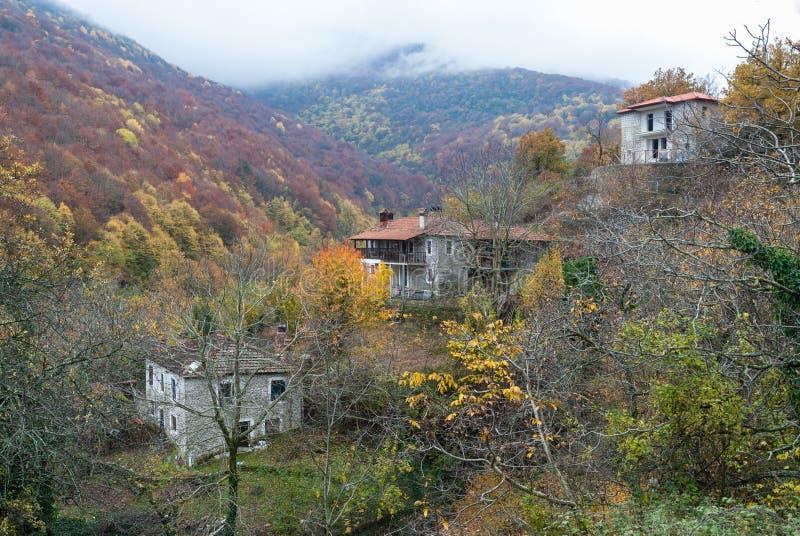 老村庄在希腊 图库摄影
