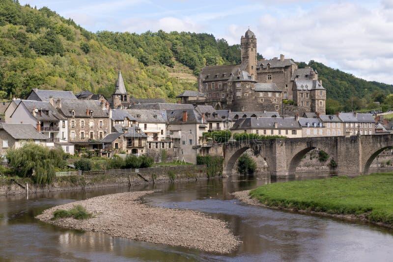 老村庄在法国 免版税库存照片