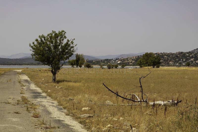 老村庄在马德里 免版税库存图片