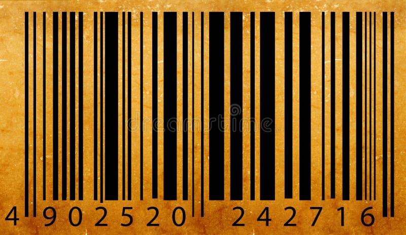 老条形码标签 向量例证