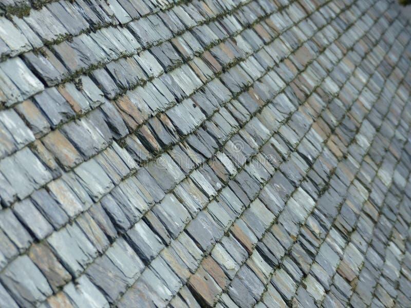 老板岩铺磁砖了屋顶 免版税图库摄影
