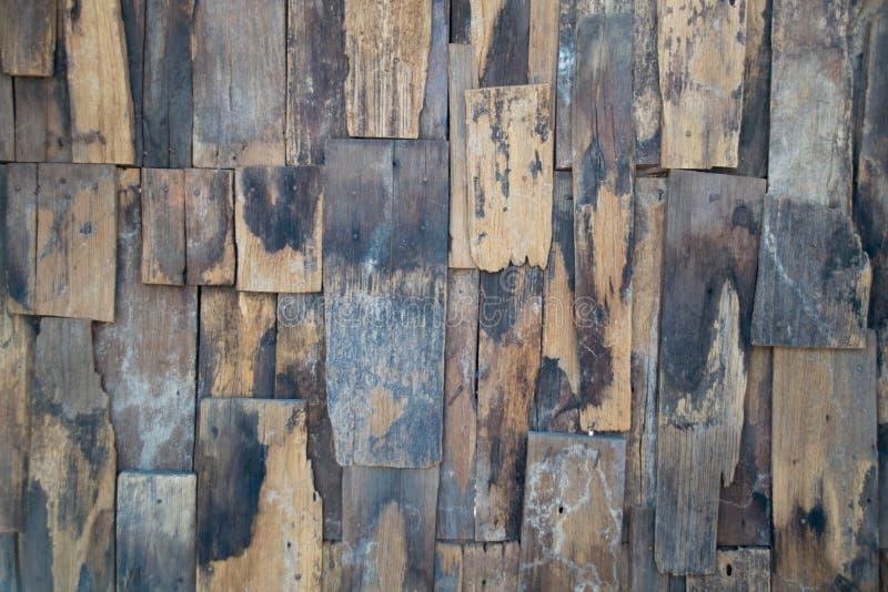 老板条木墙壁葡萄酒纹理和背景 免版税图库摄影