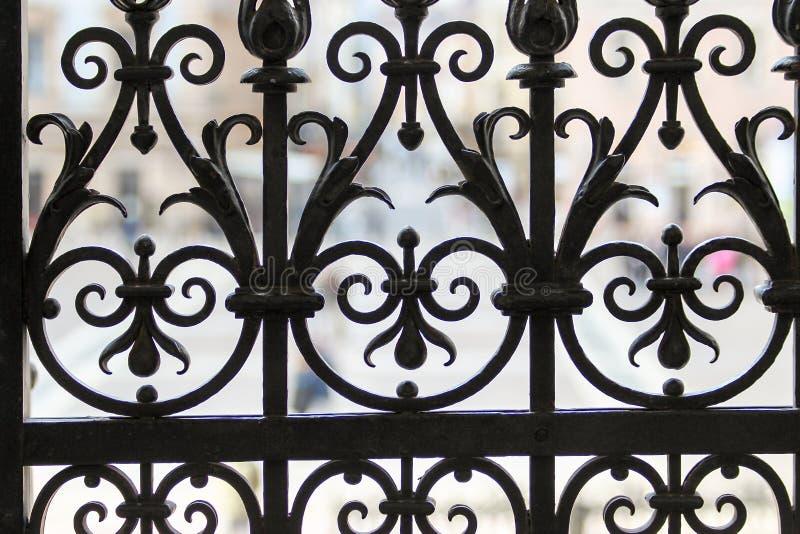 老格子门的元素 免版税库存图片