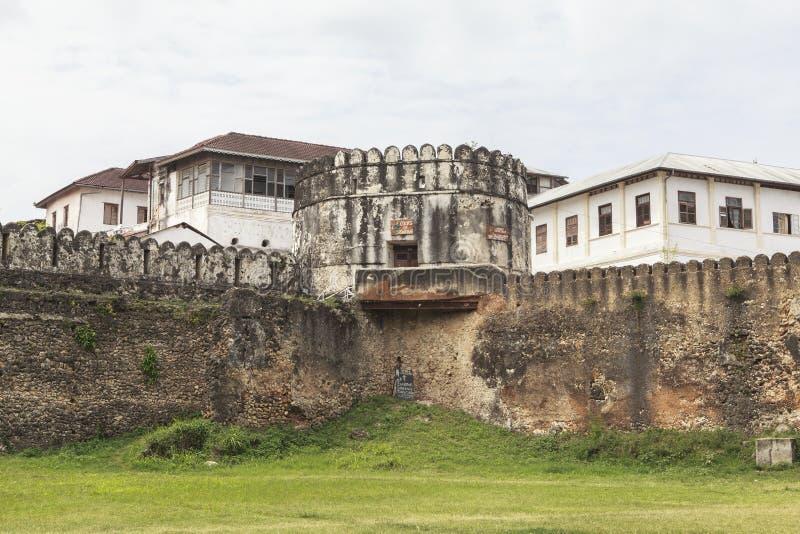 老桑给巴尔石头城在桑给巴尔岛,坦桑尼亚 免版税库存图片