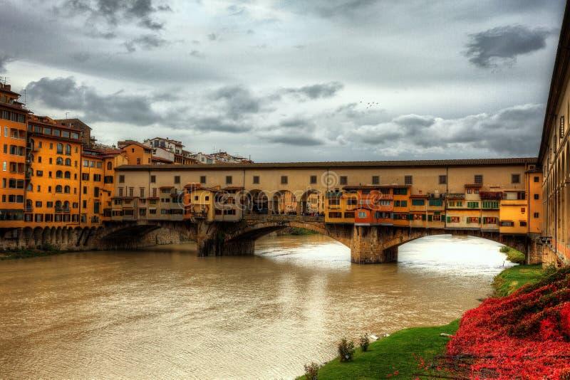 老桥梁佛罗伦萨 库存图片