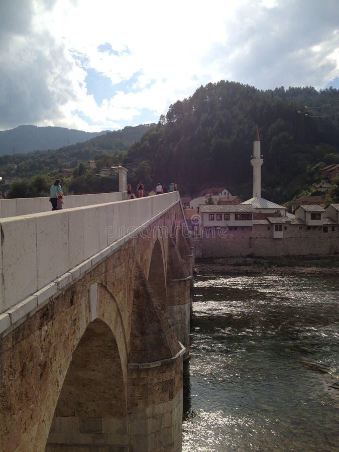 老桥梁在科尼茨,波黑 库存图片