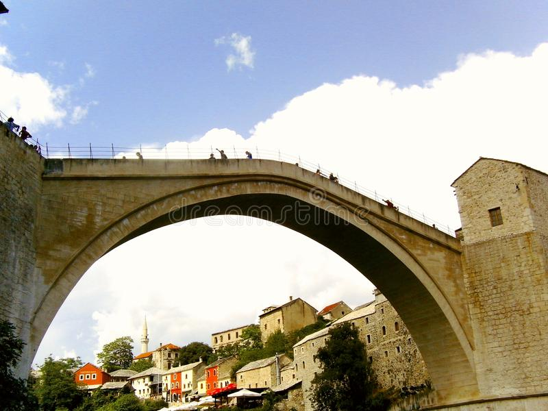 老桥梁 库存图片