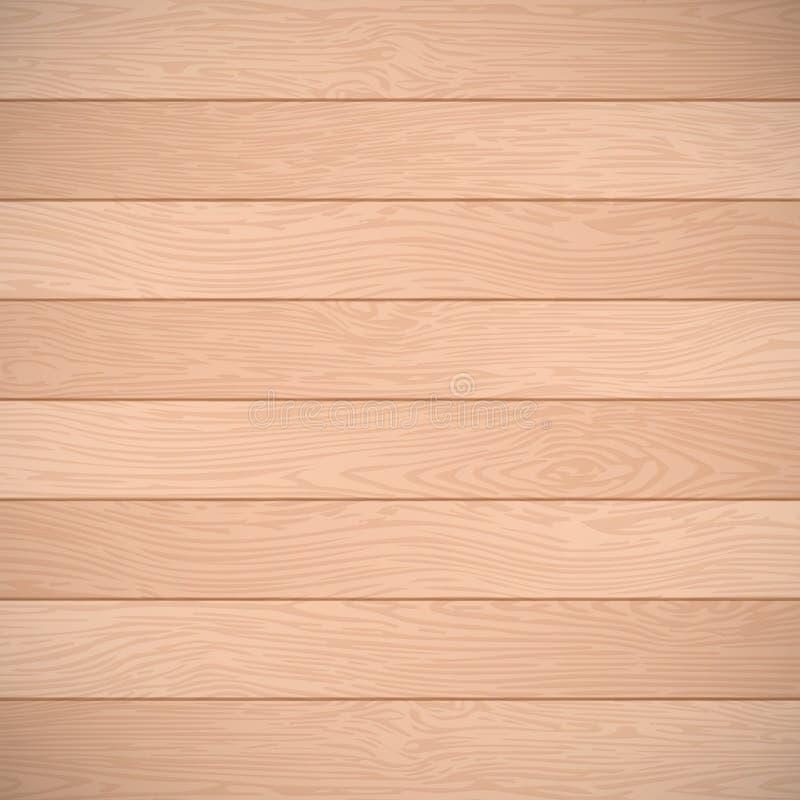 老棕色木板条纹理 传染媒介木头背景 皇族释放例证
