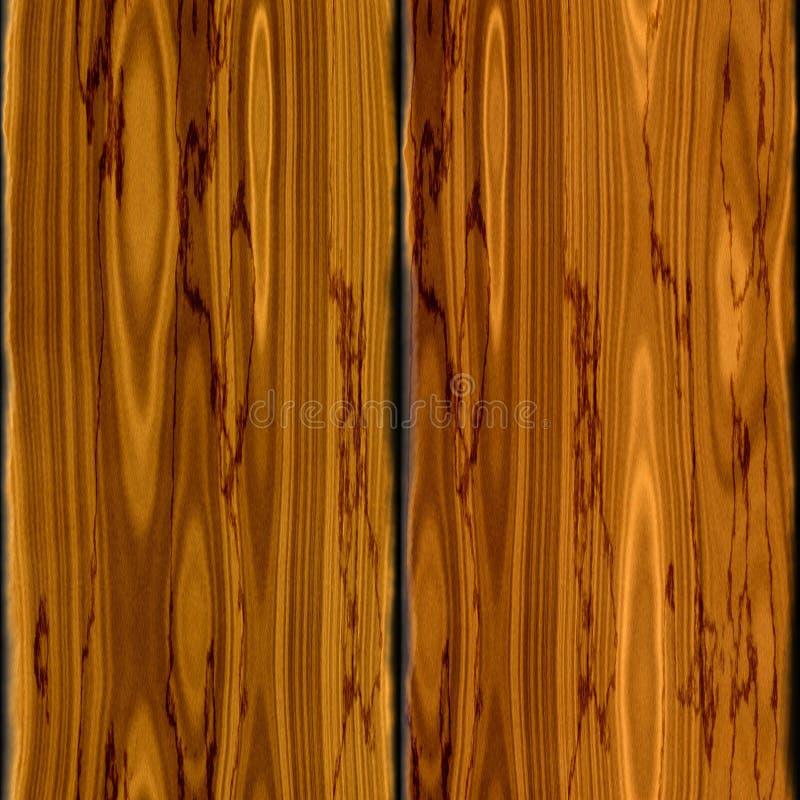 老棕色木橡木板条无缝的样式纹理 库存例证