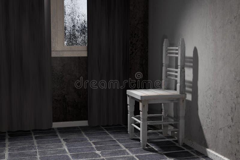 老椅子 库存例证