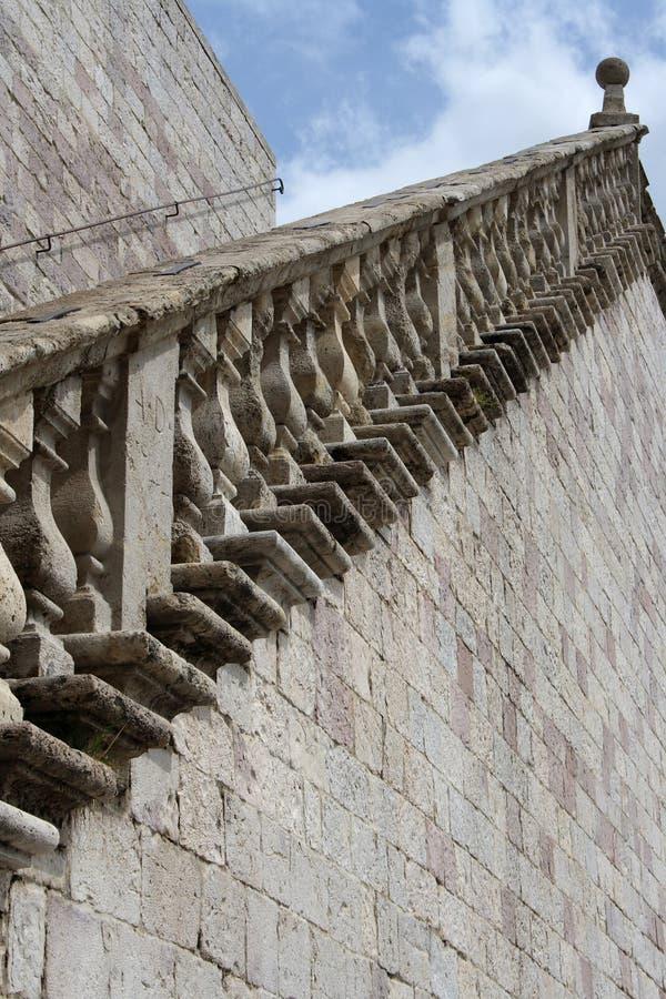 老楼梯石头 库存图片