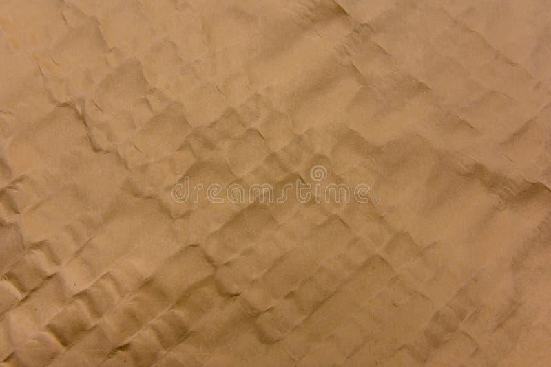老橙色纸纹理纸背景 免版税库存照片