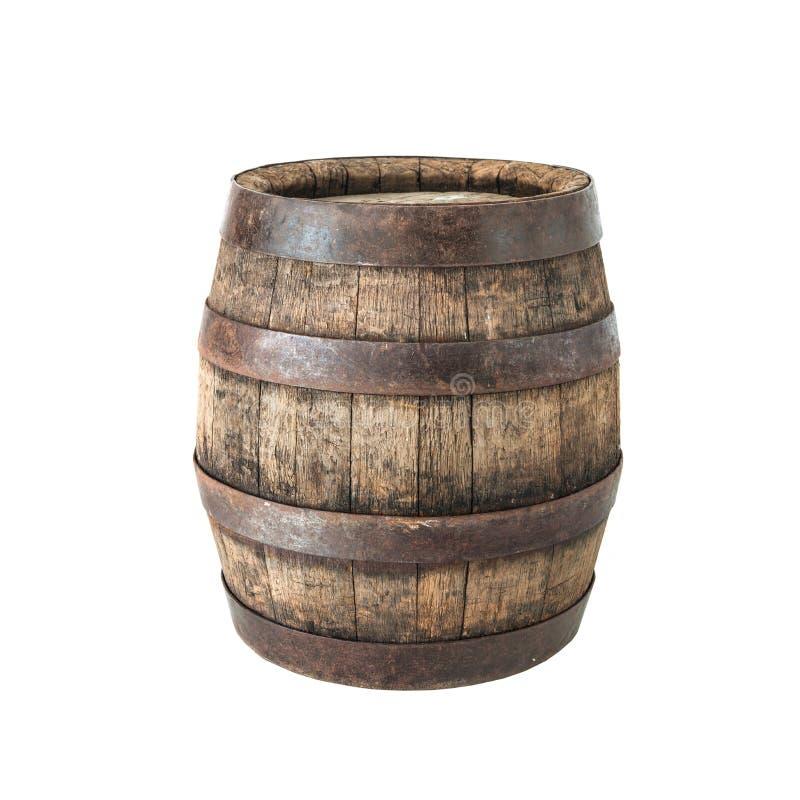 老橡木桶 免版税库存照片