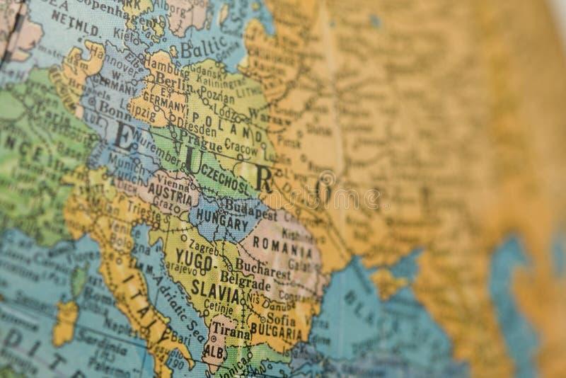 老欧洲地球 库存图片