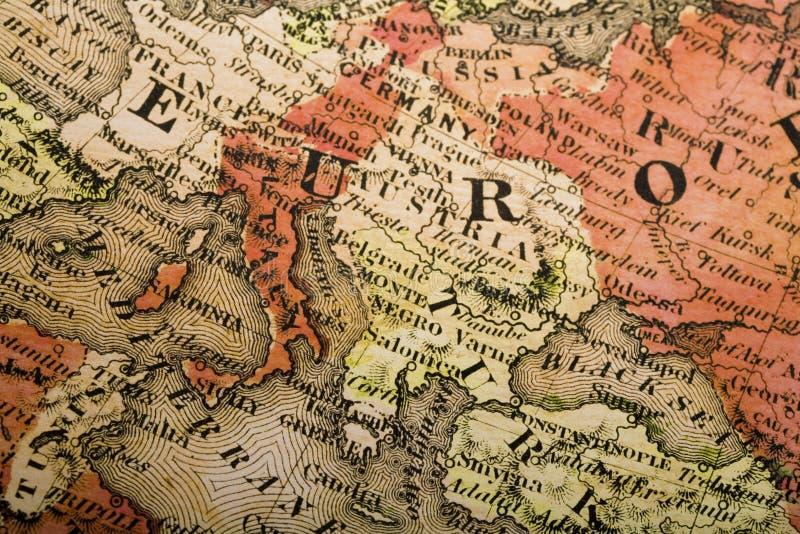 老欧洲映射 免版税库存图片