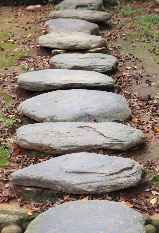 老步骤石头 图库摄影