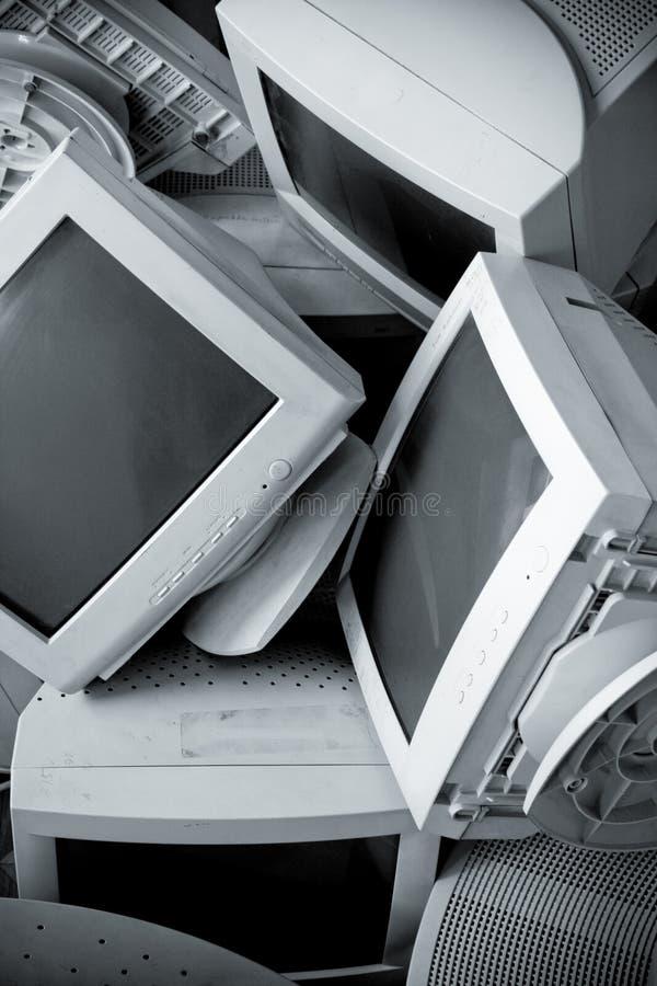 老残破的监控程序 库存图片