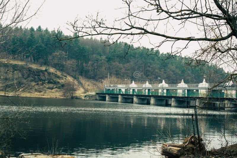 老水力发电厂 库存照片