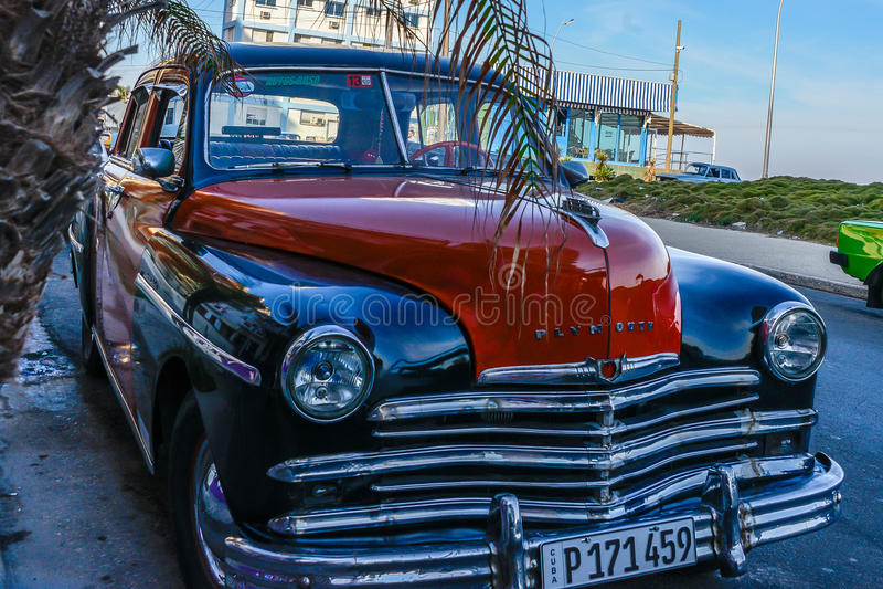 老汽车古巴人 库存照片