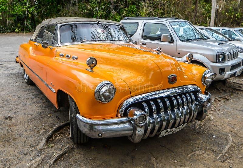 老汽车古巴人 免版税库存图片