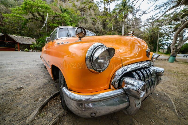老汽车古巴人 免版税库存照片