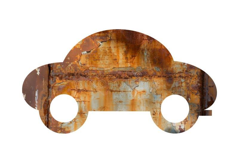 老汽车是生锈和腐蚀 向量例证