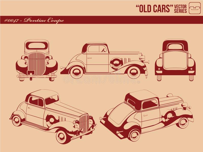 老汽车-比德小轿车 向量例证