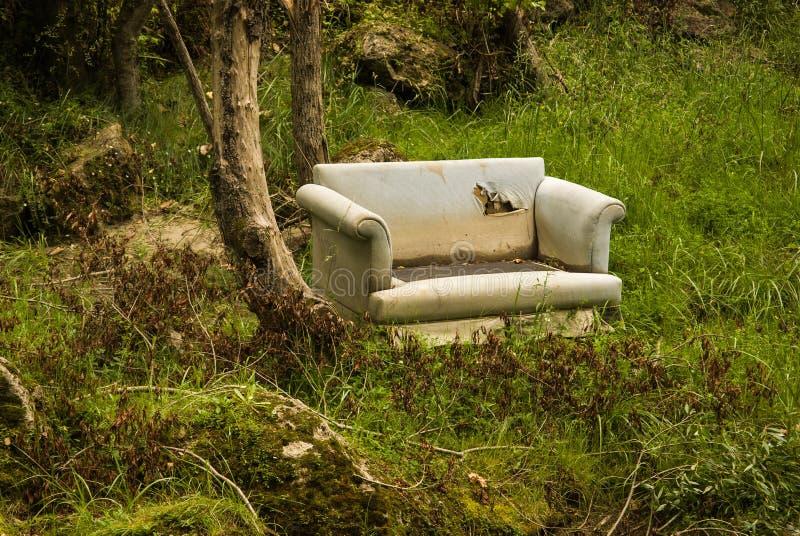 老沙发 免版税库存照片