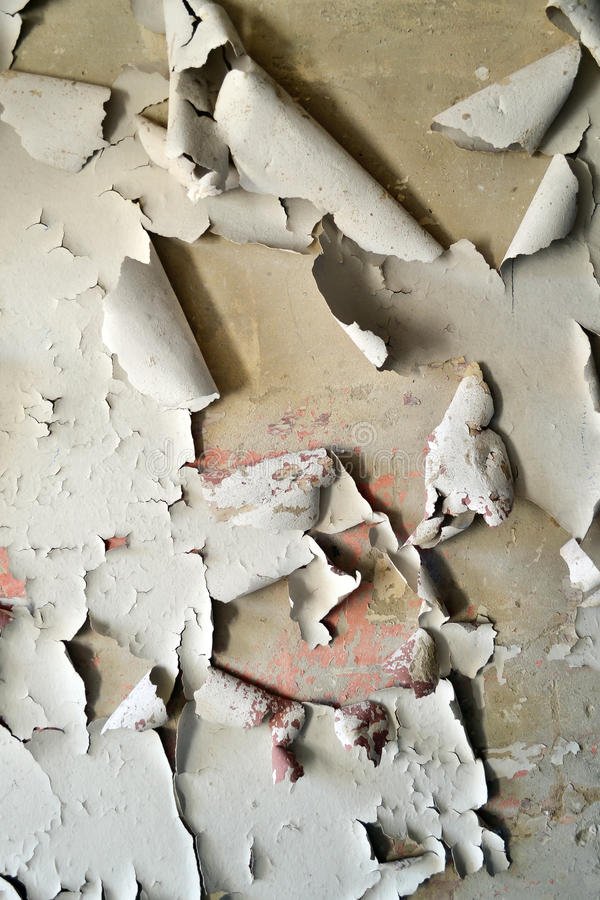 老油漆和墙纸小块 库存照片