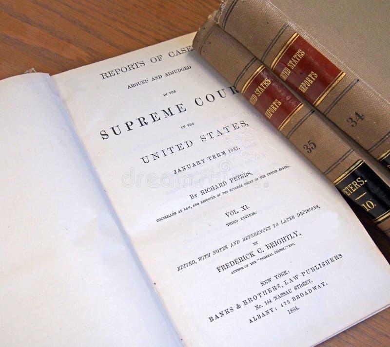 老法律书籍 免版税库存照片