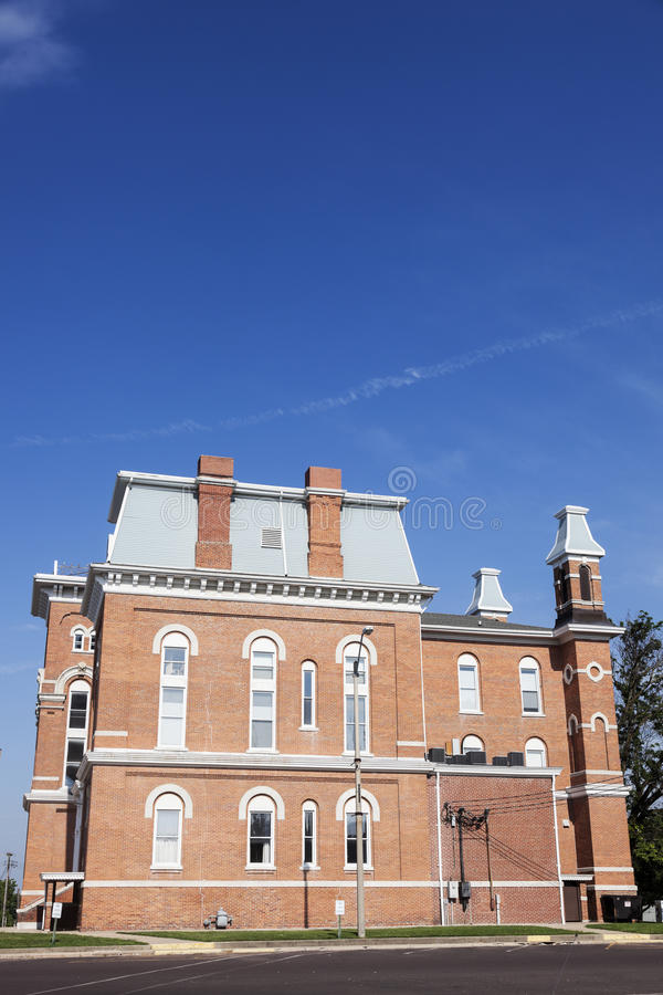 老法院大楼在Hillsboro,蒙哥马利郡 库存照片