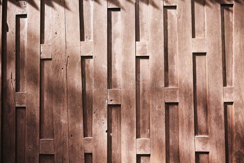 老泰国` s房子木墙壁有抽象纹理背景 库存图片