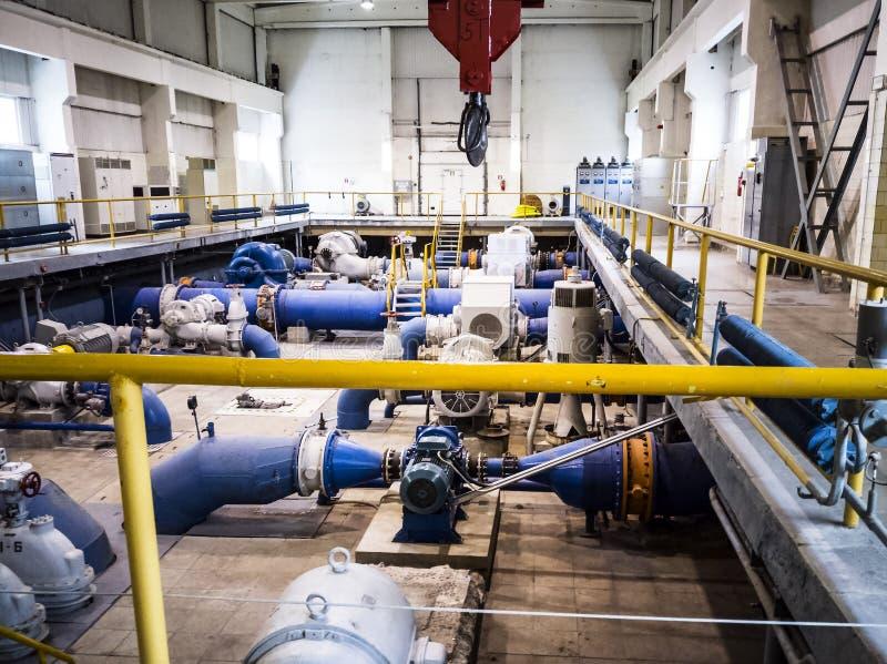 老泵站 行业对象 免版税库存图片
