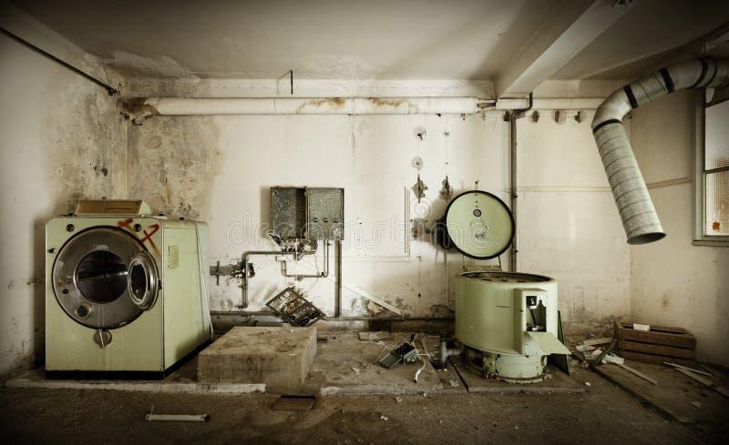 老洗衣店 库存图片