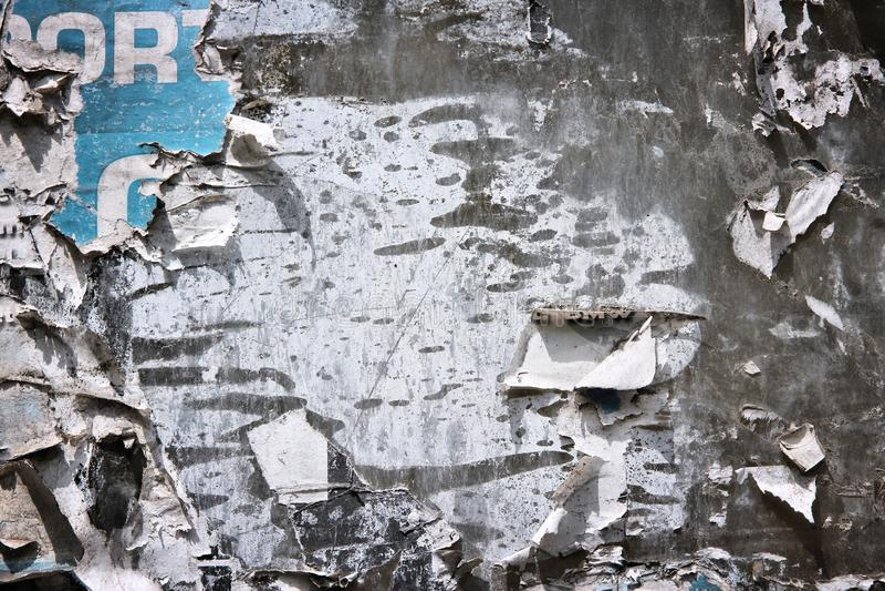 老海报墙壁 免版税库存图片