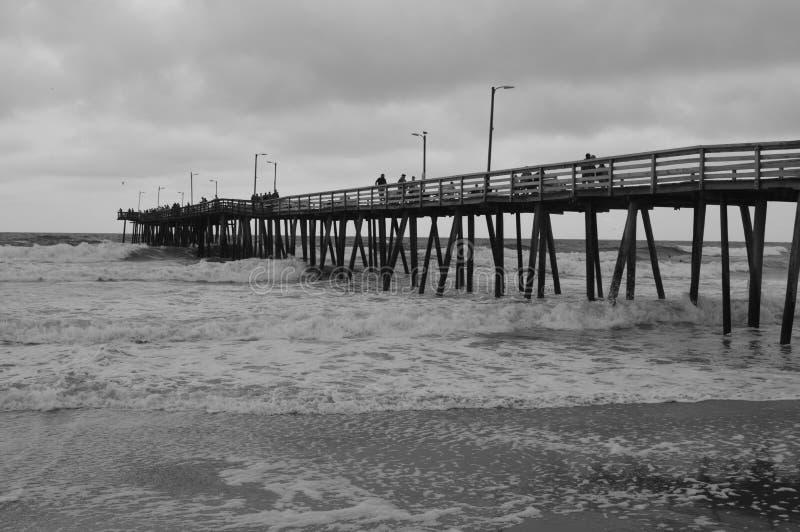 老海滩同辈 图库摄影